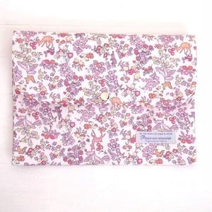 リバティ 母子手帳ケース ナンシー・アニマル/ピンク6P B6サイズ マルチケース