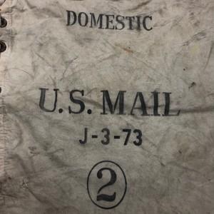 40's U.S. MAIL ホワイトキャンバス素材 メールバッグ ステンシル入り