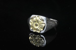 Love rose square ring