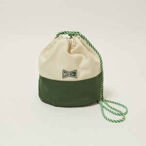 'KINCHAKU'CANVAS POUCH S - GREEN