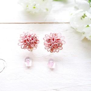 【枝垂桜】桜雨のしずく イヤリングorピアス