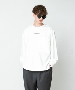 "SAY! / セイ!| "" SMOOTH BIG L/S TEE "" Off White"