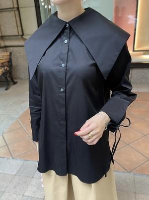 【予約】crepe collar blouse / black (11月中旬発送予定)