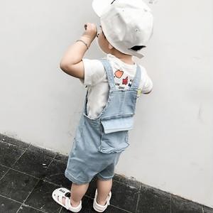 【子供服】心地よい肌触りボタン付き無地ストラップパンツストラップ20585347