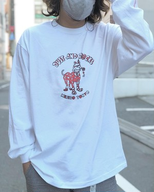 "DUST AND ROCKS × Yutaka Nojima Long Sleeve T-shirts ""Dog Race"""