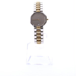 Christian Dior/クリスチャンディオール CDロゴクオーツウォッチ コンビ×ベージュ(40029)