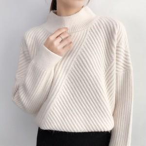 【トップス】シンプル無地ハイネック長袖セーター23420215