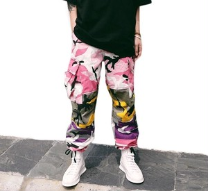 [売れ筋]カラフル迷彩パンツ 2カラー