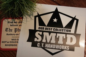 【受注製作】Cutting Sticker『SMTD CROWN』Black