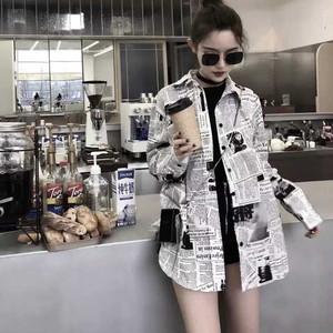 【トップス】超人気ファッションアルファベットPOLOネックシングルブレストシャツ22537861