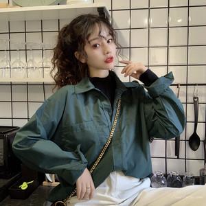 【トップス】ファッション通勤POLOネックシングルブレストシャツ