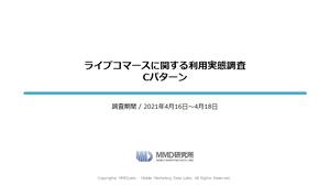 ライブコマースに関する調査/ライブコマースに関する利用実態調査 Cパターン
