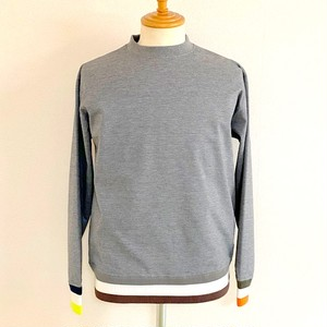 Color Block Rib Crew Sweat Shirts Gray