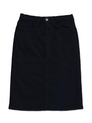 D.M.G 17-341A 4Pスカート ブラック ドミンゴ DMG コットン カツラギ ストレッチ 膝丈 タイト MadeinJAPAN 倉敷 児島 日本製