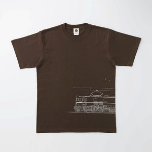 Tシャツ|EF58-61 ( Dark Brown × Silver )