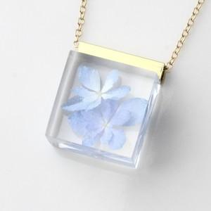 紫陽花のネックレス14kgf(無料ギフトラッピング, メッセージカード, 誕生日プレゼント, 送料無料)