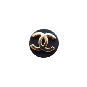 【VINTAGE CHANEL BUTTON】プチココマーク ブラックボタン 10mm C-20092