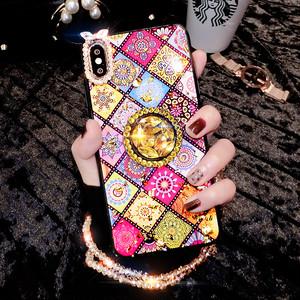 【小物】iPhoneエスニック風ラインストーンスマホケース・カバー