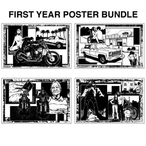 SMUT BUTT MAGAZINE 11x17 FIRST YEAR CENTERFOLD POSTER BUNDLE
