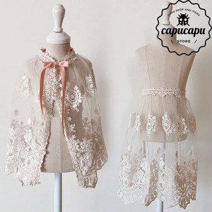 «sold out» Lace apron cape 2way レースエプロン