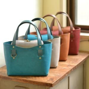 『ちょっとそこまで♪』手縫いの牛ヌメ革ミニトートバッグ(全4色・姫路オイルレザー)