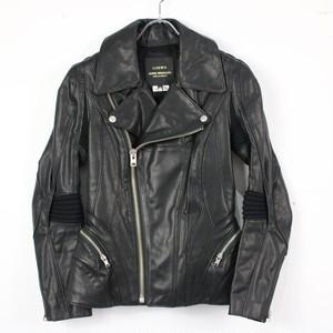 【新品】LOEWE / ロエベ | 2013AW | JUNYA WATANABE comme des garcons レザーライダースジャケット | XS | ブラック | レディース