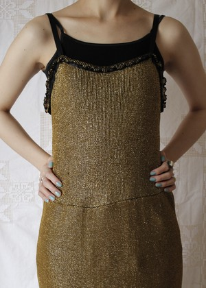 Gold Camisole Dress
