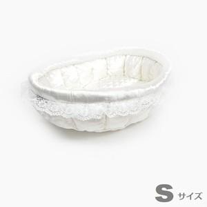 ふーじこちゃんママ手作り ぽんぽんベッド (サテンホワイト) Sサイズ 【CBPW01-0078S】