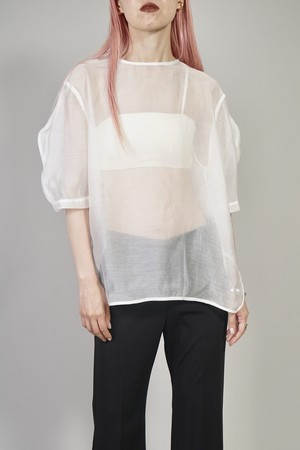 SEE-THROUGH COCOON SLEEVE TOPS (WHITE)2006-63-82