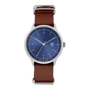 HAROLD NAVY METAL【CHPO】 Swedish navy metal dial. Dark brown leather strap