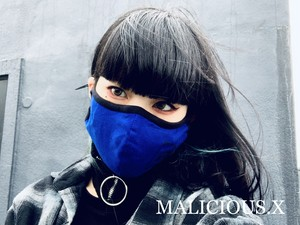 triangle eye Face mask(Gaze) / blue