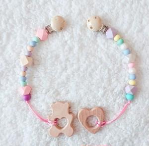 おしゃぶりホルダー〔girly pink&cotton candy〕