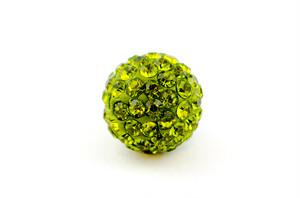 ラインストーンパヴェボール 1個 10mm オリーブ pve-olive10