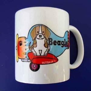 飛行機マグカップ【ビ-グル】