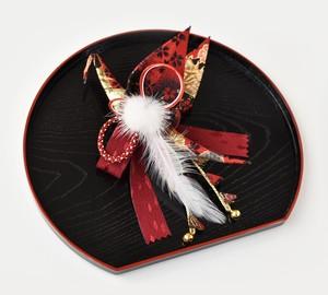 織り鶴髪飾り 姉妹鶴:赤