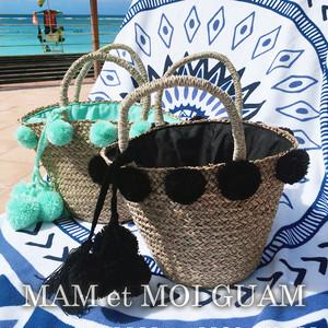 Pom-pom Basket Bag