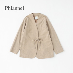 Phlannel/フランネル・Summer Loop Yarn Collarless Jacket