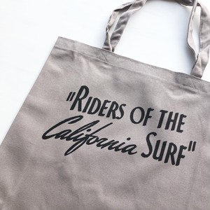 "Surge Coast Store ""Riders Of The California Surf"" Tote Bag -Gray"