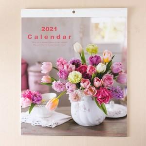 2021 Flower Wall Calendar 壁掛けカレンダー