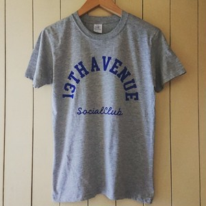 13th Avenue Social Club アーチロゴ T-shirts co. gry