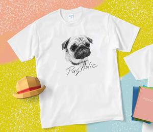 PUGholicレディースTシャツ   TM-MLW1-2020-SM