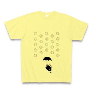 理系Tシャツ【天気記号/あられ/ライトイエロー黒】-(Scien-T'st)Weather Symbol/SnowPellets/LightYellow-Black