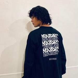 バックプリント・ロゴ・ロンT(黒)