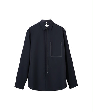 OAMC IAN SHIRT, WOOL Factory Navy OAMQ600725