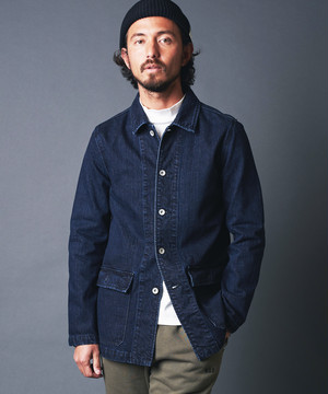 SHAVING DENIM MILITARY JACKET