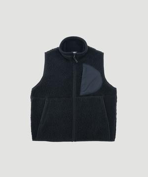 PORTER CLASSIC Fleece Vest Black PC-022-1186-10