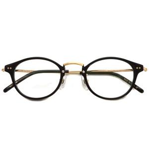 STEADY ステディ / STD-69 / カラー:1 Black - Shirring Gold ブラック - シャーリングゴールド メガネフレーム