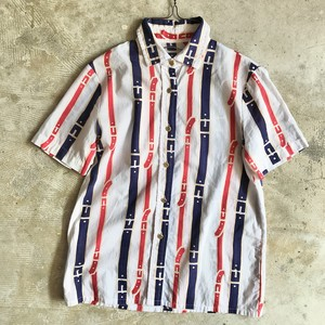 【SOLD OUT】コットンシャツ 総柄 USED
