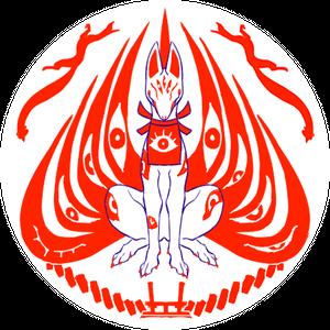 缶バッジ(百目狐)