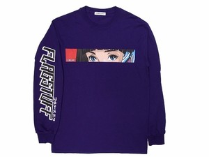 """Dream and reality"" L/S Tee  PURPLE  18SS-FS-49"